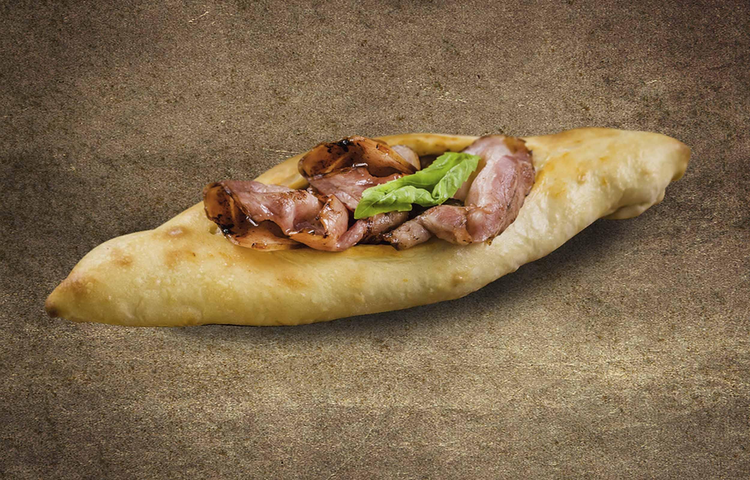 Доставка Пиде со свининой и хрустящим беконом