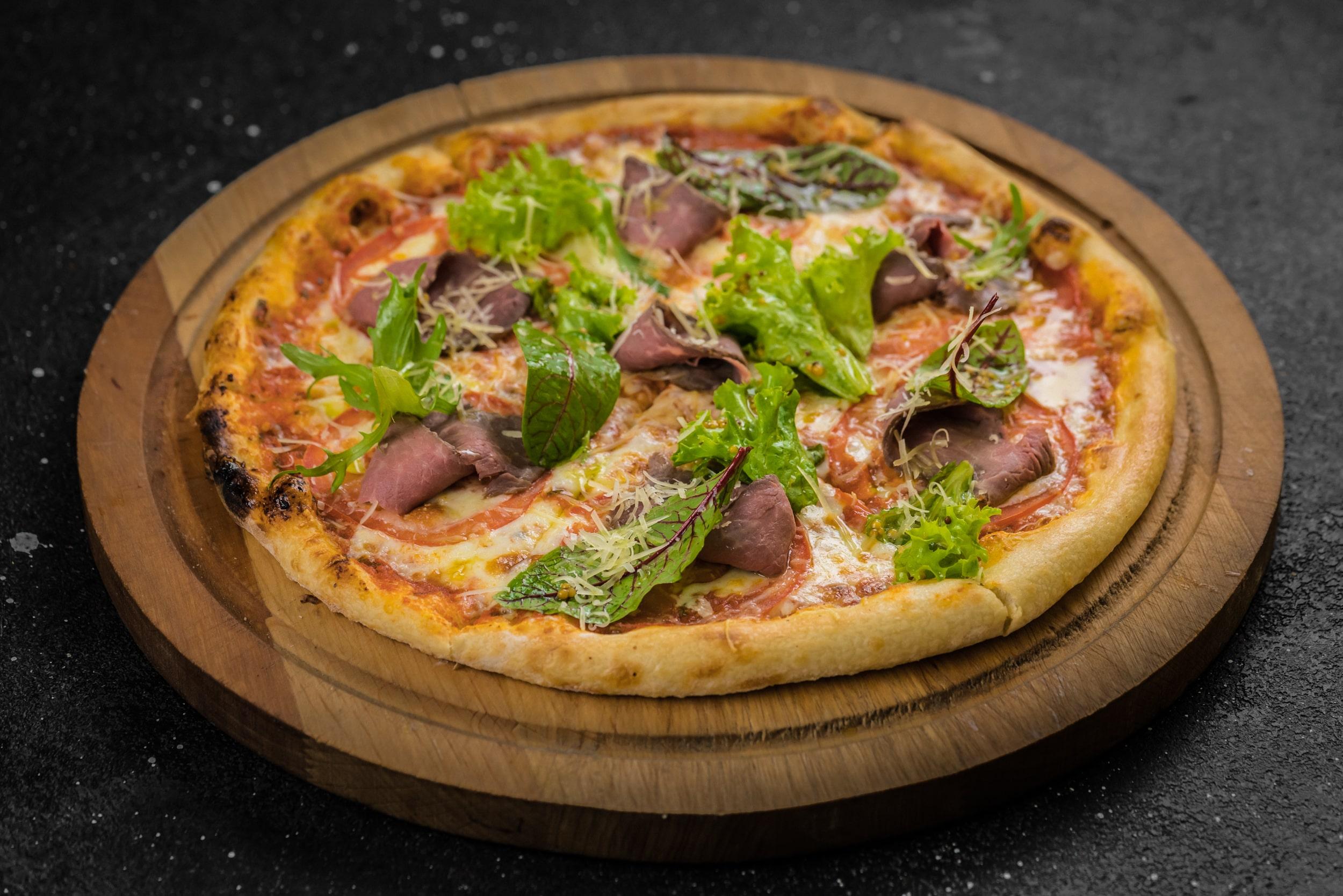 Доставка Пицца с пастрами и пармезаном (33см)